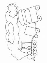 Coloring Train Caboose Clipart Animal Library Popular Coloringhome Line sketch template
