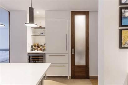 Kitchen Fridge Paneling Frans Bar Apartment Before