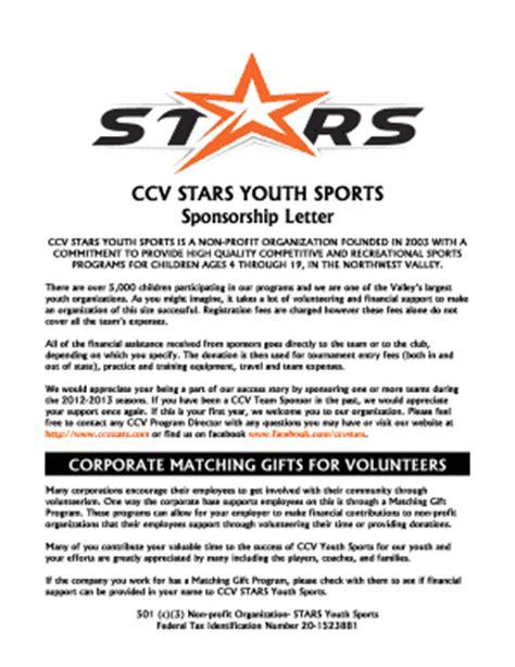 Youth Sponsorship Letter  Fill Online, Printable