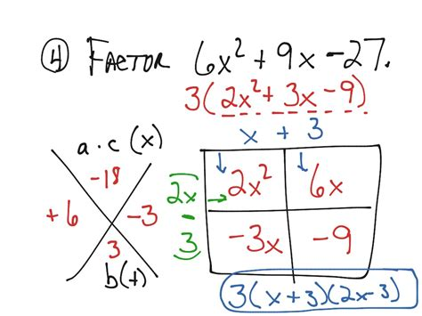 Showme  Lesson 95 Factoring Trinomials