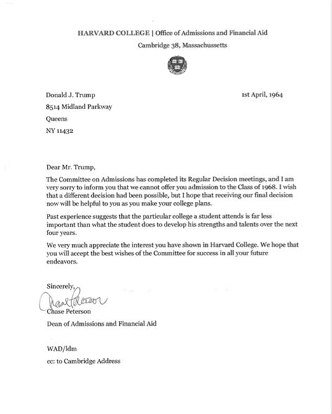 college rejection letter exle ideas membership