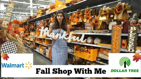 fall shop   walmart dollar tree fall decor