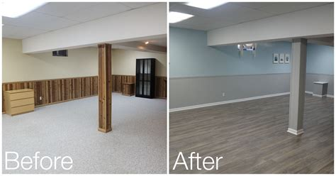My Magical Ceiling And Floor Makeover by Basement Reveal Granite Basement Painting Wood