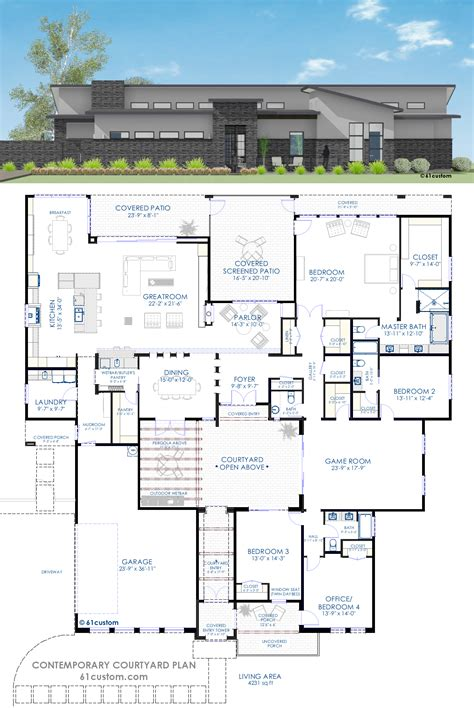custom modern home plans house plans and design contemporary house plans with