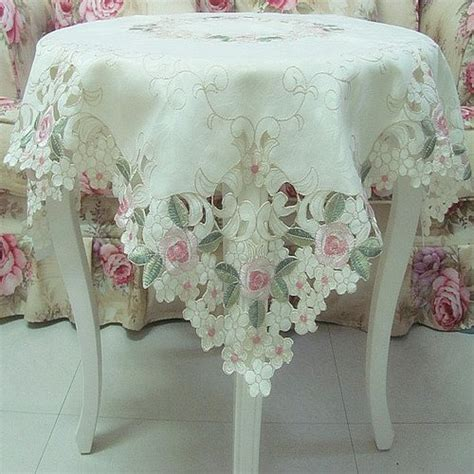 shabby chic table cloths fadfay home textile elegant shabby vintage floral table overlays for weddings pink rose