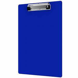 letter size 85 x 11 aluminum clipboard blue With letter size clipboard