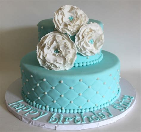 tiffany blue quilted birthday cake lil  cakes