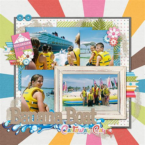 Banana Boat Disney Cruise by Banana Boat Mousescrappers Disney Scrapbooking Gallery