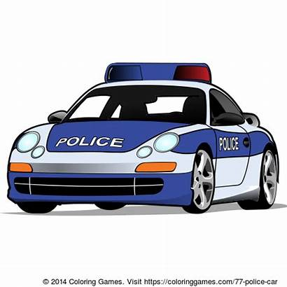 Coloring Police Pages Cars Games Polizei Cool