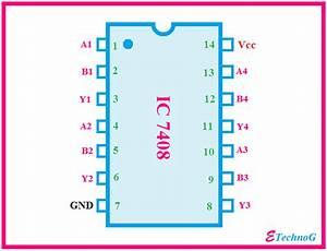 Ic 7408 Pin Diagram  Circuit Design  Data Sheet