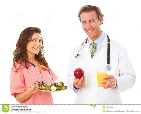 dr cuisine and holding health food royalty free stock photo image 30621095