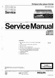 Philips Cd104  Service Manual  Repair Schematics