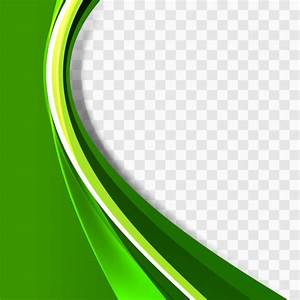 Green Wavy Background Template Vector