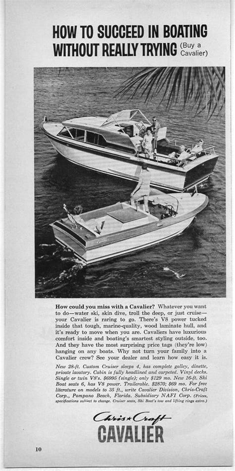 Boat Depot Pompano by 1962 Vintage Ad Chris Craft Cavalier Boats Pompano
