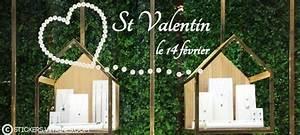 Vitrine Saint Valentin : st valentin stickers vitrines ~ Louise-bijoux.com Idées de Décoration