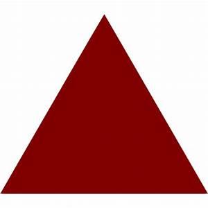 Maroon Triangle Icon