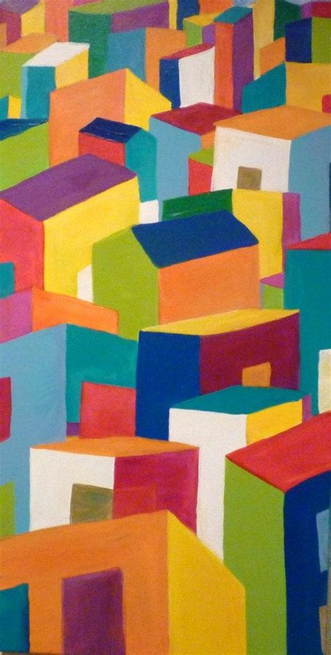 Easy Abstract Shapes by Best 20 Abstract Acrylic Paintings Ideas On