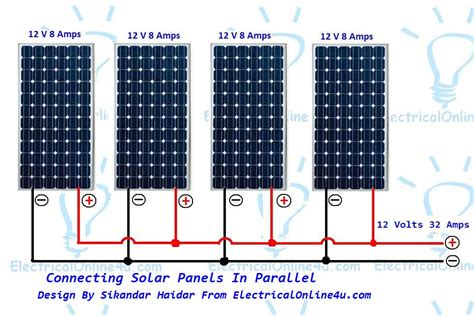 wiring solar panels in parallel solar parallel calculation electrical online 4u