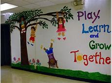 My mural on entrance wall of K2 School photo fwall3jpg