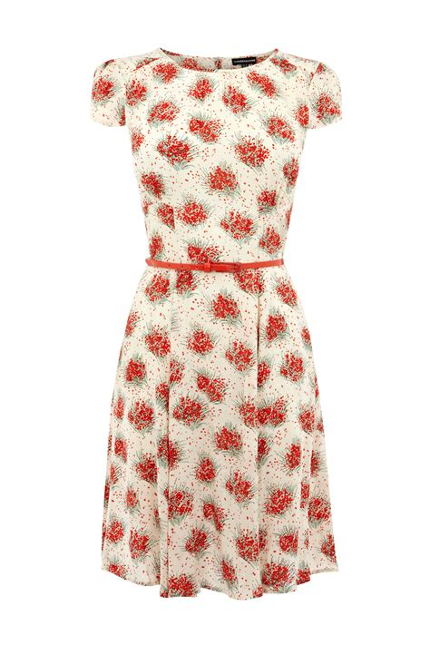 poppy spray warehouse  images poppy print dress