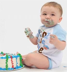 Boys Cake Smash Bodysuit Boys 1st Birthday Romper Blue