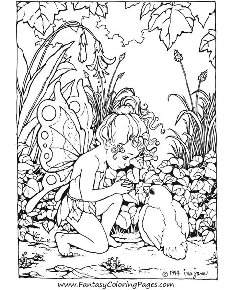 Detailed Fairy Coloring Pages For Adults Color away