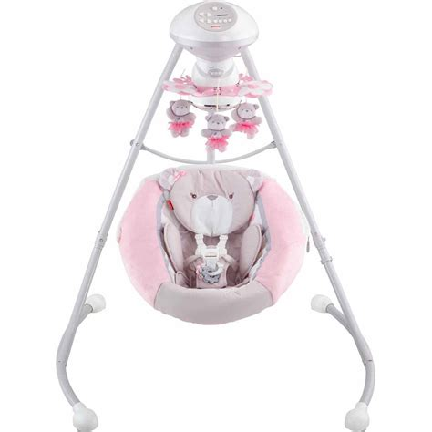 Fisher Price Swing by Fisher Price My Snugabear Cradle N Swing Pink