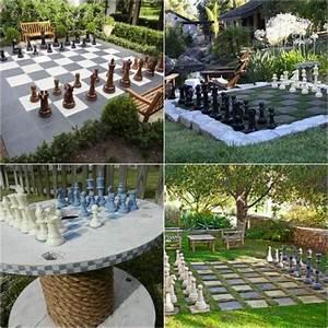 Spiel Im Garten : schach spiel im garten selber machen garteninspirationen pinterest garten garten ideen ~ Frokenaadalensverden.com Haus und Dekorationen