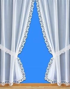 Rideau Macramé Au Mètre : voilages style rideau bonne femme avec bordure macram ~ Teatrodelosmanantiales.com Idées de Décoration