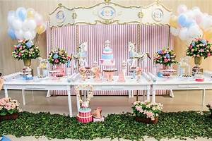 Kara's Party Ideas Vintage Chic Carousel Birthday Party