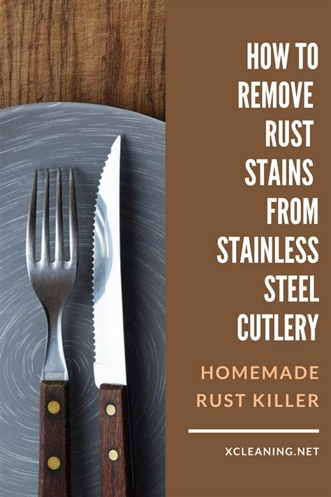 rust stainless steel homemade stains remove cutlery killer xcleaning advertisements cleaning