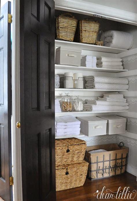small bathroom towel storage ideas 20 beautifully organized linen closets the housie