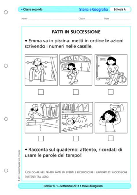 Prove D Ingresso Seconda Elementare Prove D Ingresso Storia E Geografia Classe 2 La Vita