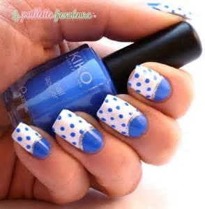 Blue Polka Dot Nails Design