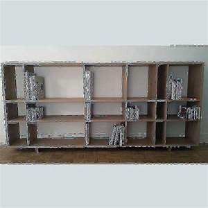 bibliotheque basse With meuble 9 cases blanc 16 etagare large bois metal industriel achat vente meuble