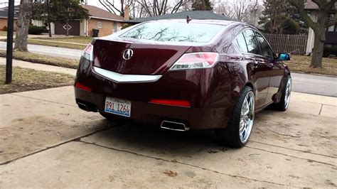 2010 acura tl on 22 rims youtube