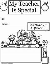Teacher Coloring Appreciation Pages Special Printable Teachers Educational Cartoon Church Colors sketch template