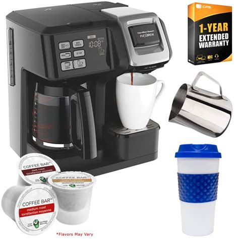 Buy hamilton beach coffee machines and get the best deals at the lowest prices on ebay! Hamilton Beach 49976 FlexBrew 2-Way Coffee Maker (Black) with Deco Gear Kitchen & K-Cups Bundle ...