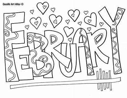 February Coloring Doodle Alley