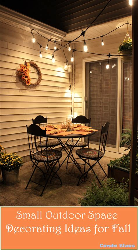 condo blues how to decorate a small patio for fall