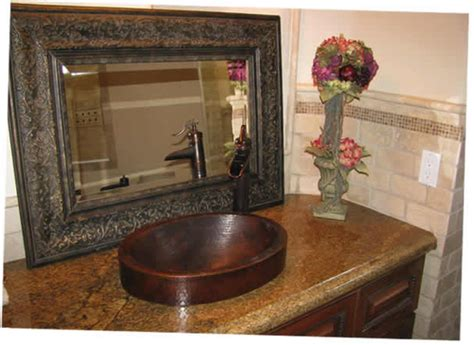 semi recessed    oval skirted copper bath sink drop