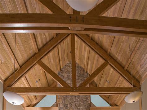 brick kitchen backsplash wood truss beams design decoration 1787