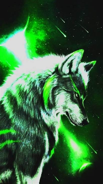 Space Zedge Wolf Wolves Lights Northern Moon