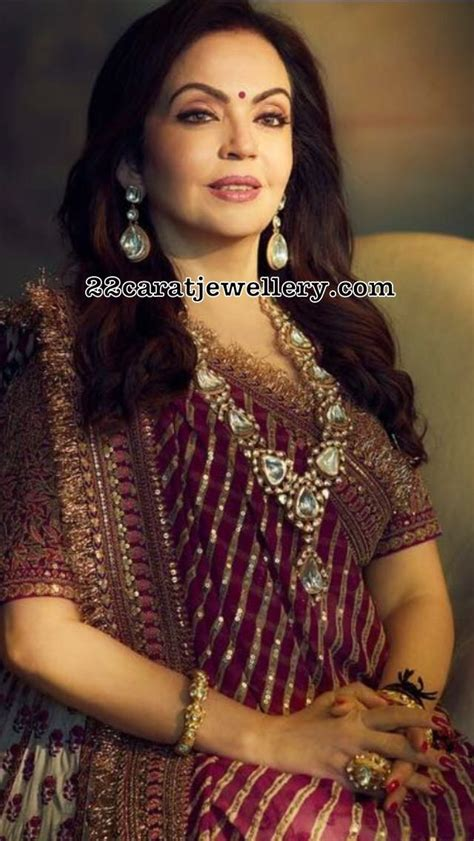 nita ambani polki kundan haar indian diamond wedding