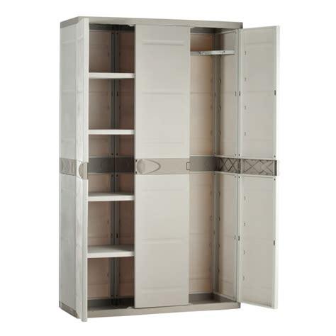armoire de balcon armoire de rangement plastiken 3 portes