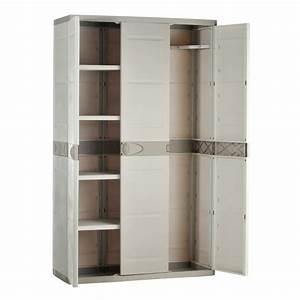 Armoire De Rangement : armoire de rangement plastiken 3 portes ~ Teatrodelosmanantiales.com Idées de Décoration