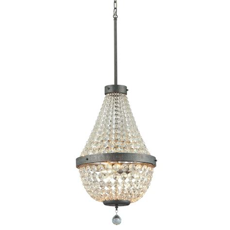 Chandelier Lights by Portfolio Breely 3 Light Antique Silver Accent