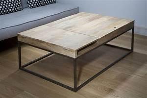 Table Basse Noir : table basse noir et bois ~ Teatrodelosmanantiales.com Idées de Décoration
