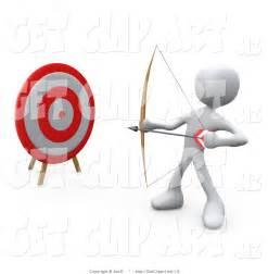 Man with Bow and Arrow Clip Art