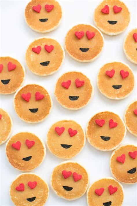 easy mini emoji pancakes cute breakfast idea  kids
